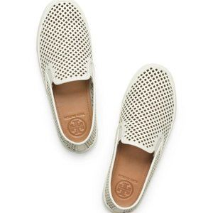 Tory Burch Jesse Perforated Slip On Sneakers